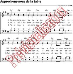Approchons-nous de la table