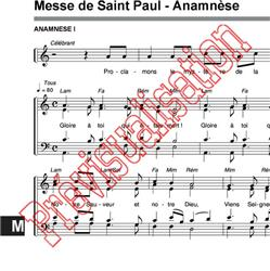 Messe de Saint Paul - Anamnèse